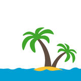 Symbol of a tropical island Stock Photography
