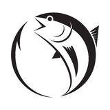 Symbol tuna and hook, vector Stock Image