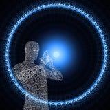 Symbol tunnel of light royalty free illustration