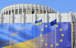 Symbol of Ukraine in the European Union Royalty Free Stock Photography