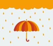 Symbol umbrella and rain Stock Photos