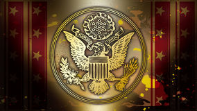 Symbol of the United States of gold Stock Photos