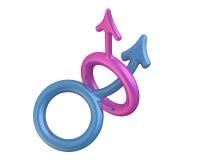 Symbol of unprotected homosexual intercourse Royalty Free Stock Photos