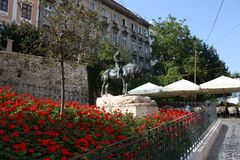 Symbol  of Upper town, Zagreb. Zagreb' upper town famous monument Royalty Free Stock Images