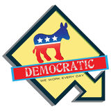 Symbol of US Democratic Party Royalty Free Stock Photos