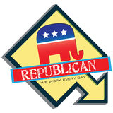 Symbol of US Republican Party Royalty Free Stock Photography