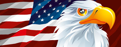 Symbol of USA. The national symbol of USA Stock Photography