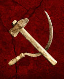 Symbol of the USSR hammer and sickle Royalty Free Stock Images