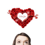 Symbol of Valentine. Royalty Free Stock Image