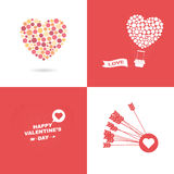 Symbol of Valentines day Royalty Free Stock Images