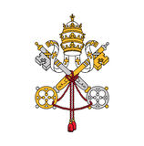 Symbol of Vatican city, vector illustration. Royalty Free Stock Photo