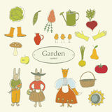 Symbol vegetable garden Royalty Free Stock Photo