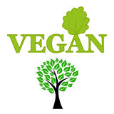 Symbol of vegetarianism and wood Royalty Free Stock Photography