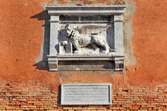 Symbol of Venice, the winged lion of St. Mark royalty free stock images