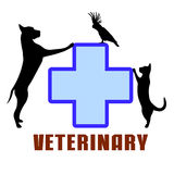 Symbol of veterinary medicine Royalty Free Stock Image