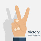 Symbol victory. Peace sign Stock Photography