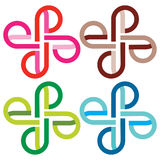Symbol vier Stockbilder