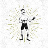 Symbol of vintage boxer Royalty Free Stock Image
