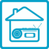 Symbol with voice recorder and house Royalty Free Stock Image