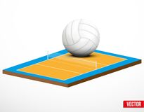 Symbol of a volleyball game and field. Royalty Free Stock Image