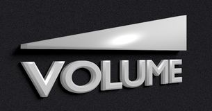 Symbol of the volume Royalty Free Stock Images