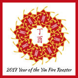 Symbol von 2017 Stockbilder