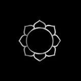 Symbol von Buddhismus-Lotus-Blume stock abbildung