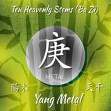 Symbol von den chinesischen Hieroglyphen Stockbild