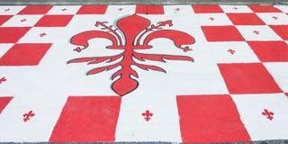 Symbol von Florenz, Lilie, Italien Stockfotos