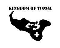 Symbol von Königreich Tonga und von Karte Lizenzfreies Stockfoto