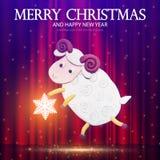 Symbol von 2015 Knetmasse-Schafe Vektor Lizenzfreies Stockfoto
