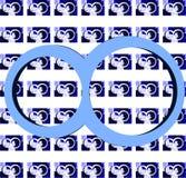 Symbol von Unendlichkeit auf bunter Beschaffenheit Stockfoto