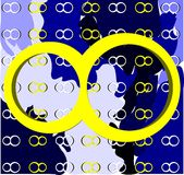Symbol von Unendlichkeit auf Hintergrund mit Beschaffenheit Lizenzfreies Stockfoto