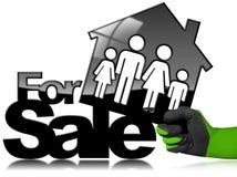 Symbol von vorbildlichen House For Sale Lizenzfreie Stockbilder