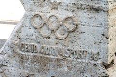 Symbol Włoski Krajowy Olimpijski komitet CONI fotografia royalty free