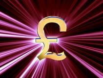 Symbol waluty funt Obrazy Royalty Free