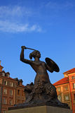 Symbol of Warsaw. On the blue sky Royalty Free Stock Image