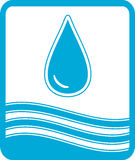Symbol with water drop and wave Royalty Free Stock Photography