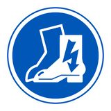 Symbol Wear Electric Shoes Sign Isolate On White Background,Vector Illustration EPS.10 royalty free illustration