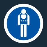 Symbol Wear Life Jacket On black Background,Vector llustration royalty free illustration