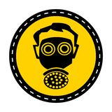 Symbol wear respirator protection Sign on white background,vector illustration royalty free illustration