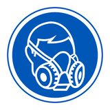 Symbol Wear Respirator sign Isolate On White Background,Vector Illustration EPS.10 vector illustration