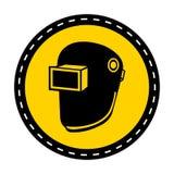 Symbol Wear Welding Helmet Isolate On White Background,Vector Illustration vector illustration