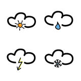 Symbol for weather forecast vector illustration Stock Image