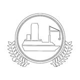 symbol white ship icon Royalty Free Stock Images