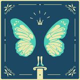 Symbol woman butterfly Royalty Free Stock Images