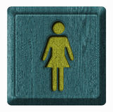 Symbol woman royalty free stock photography