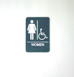 Symbol for women's restroom. Sign to indicate restroom for women,girls, handicapped stock photos