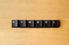 Symbol word Royalty Free Stock Photo