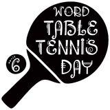 Symbol Word Table Tennis Day. April 6 marks the Word Table Tennis Day Stock Image